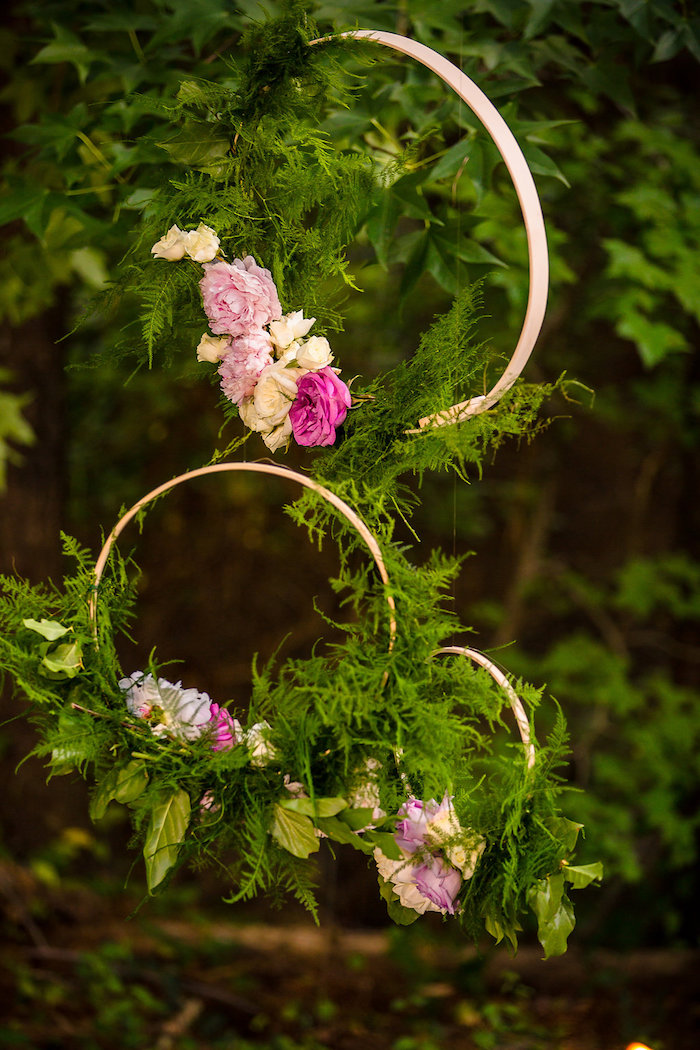 Floral boho rings from a Boho Midsummer Nights Soiree on Kara's Party Ideas | KarasPartyIdeas.com (19)