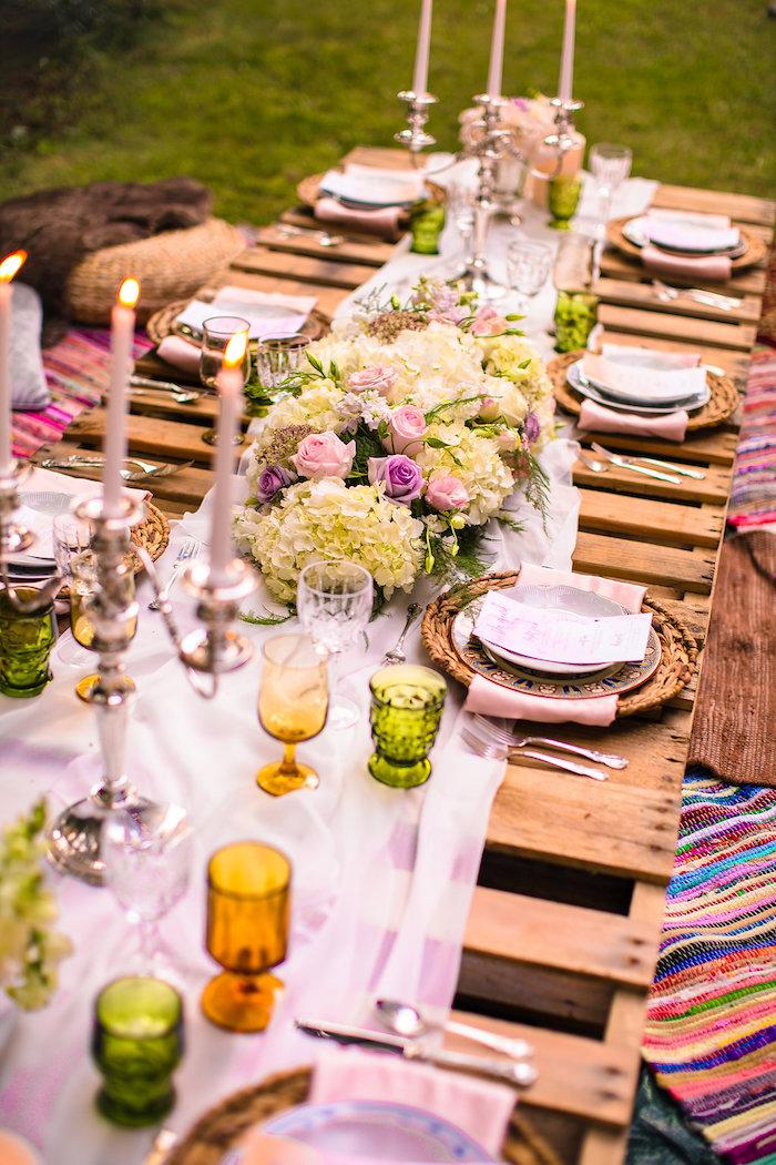 Wedding Night Ideas 96 Inspirational Pallet board dining tablescape