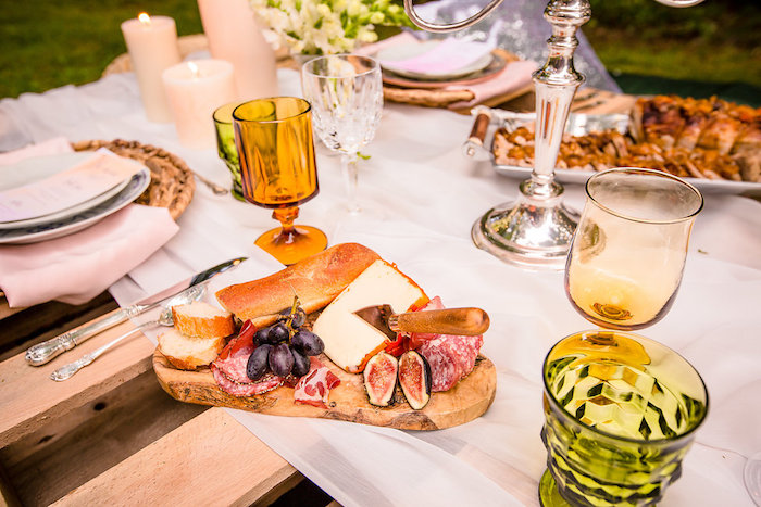 Charcuterie plate from a Boho Midsummer Nights Soiree on Kara's Party Ideas | KarasPartyIdeas.com (11)