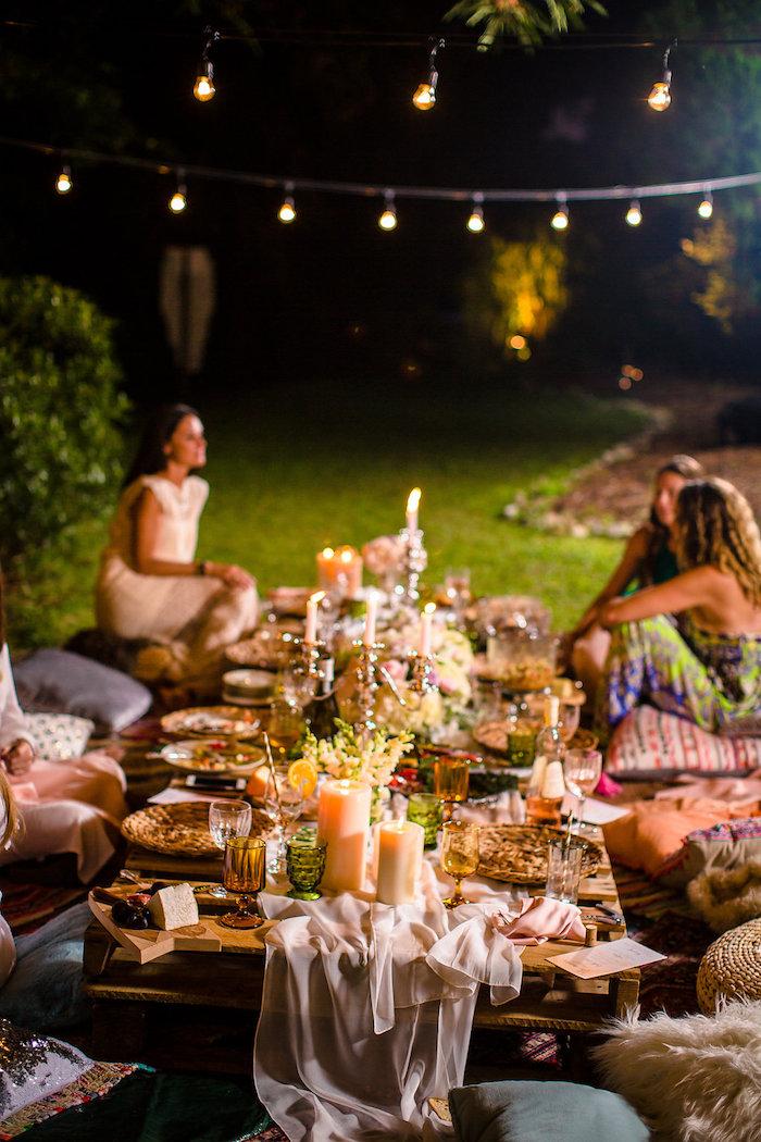 Boho Midsummer Nights Soiree on Kara's Party Ideas | KarasPartyIdeas.com (4)