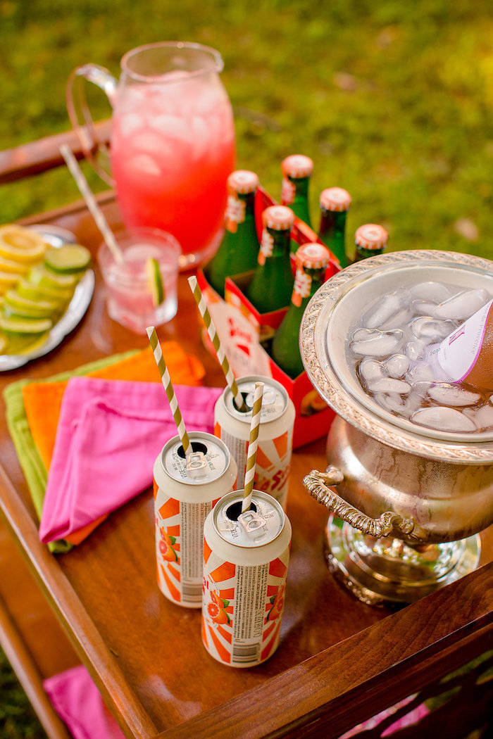 Boho bar from a Boho Midsummer Nights Soiree on Kara's Party Ideas | KarasPartyIdeas.com (32)