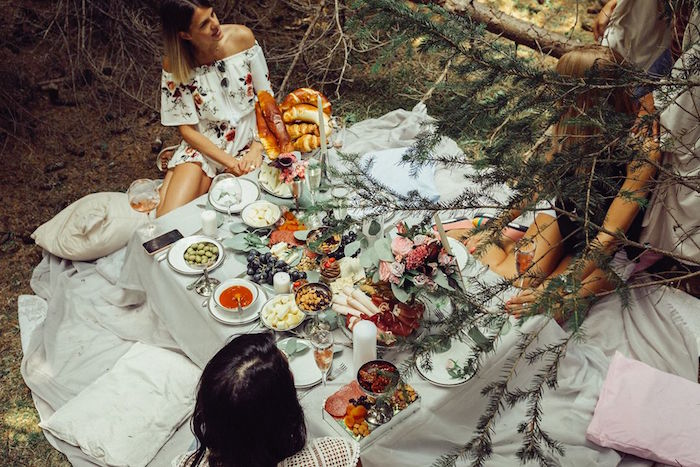 Guest table from a Boho Picnic Birthday Party on Kara's Party Ideas | KarasPartyIdeas.com (19)