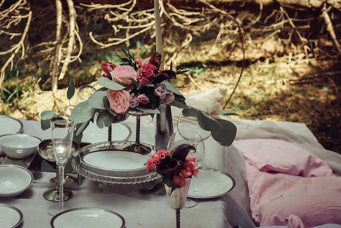 Guest table from a Boho Picnic Birthday Party on Kara's Party Ideas | KarasPartyIdeas.com (12)