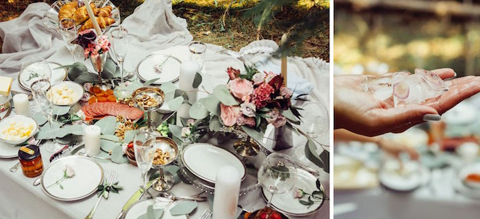 Guest tablescape from a Boho Picnic Birthday Party on Kara's Party Ideas | KarasPartyIdeas.com (10)