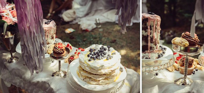 Cakes + desserts from a Boho Picnic Birthday Party on Kara's Party Ideas | KarasPartyIdeas.com (9)