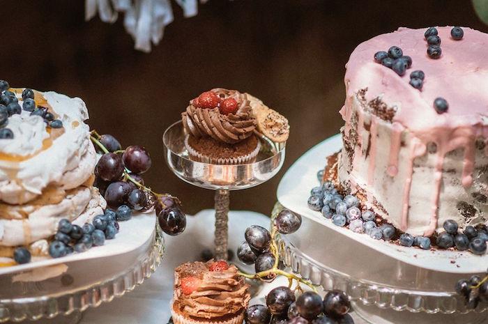 Cakes and cupcakes from a Boho Picnic Birthday Party on Kara's Party Ideas | KarasPartyIdeas.com (8)