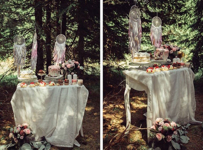 Dessert table from a Boho Picnic Birthday Party on Kara's Party Ideas | KarasPartyIdeas.com (5)