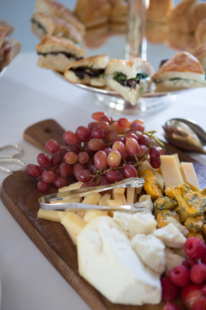 Fruit and cheese platter from a Chic & Shimmery Baby Shower on Kara's Party Ideas | KarasPartyIdeas.com (8)