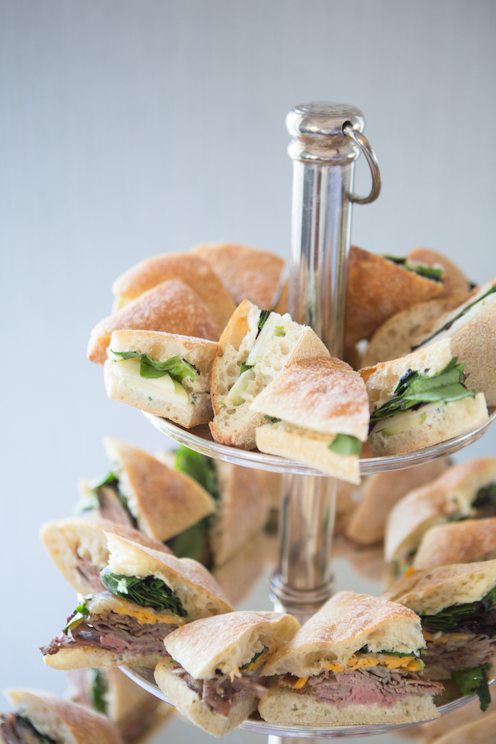 Sandwiches from a Chic & Shimmery Baby Shower on Kara's Party Ideas | KarasPartyIdeas.com (7)