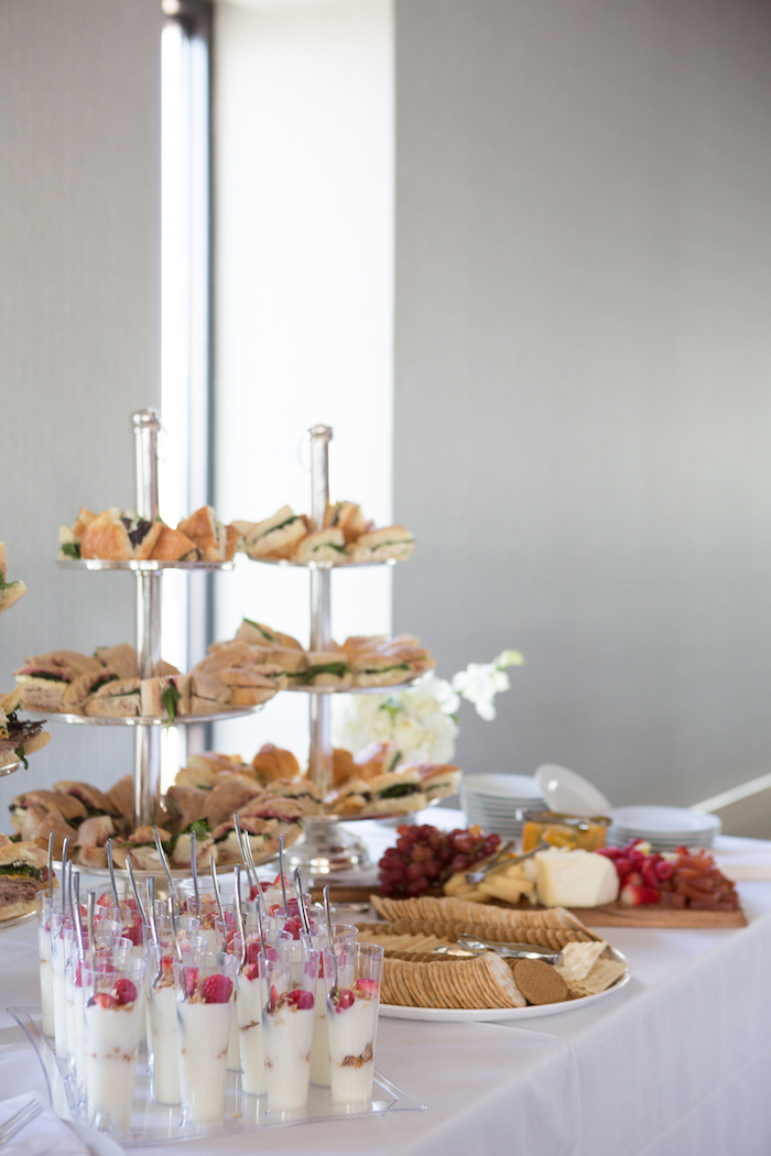 Sweet & food table from a Chic & Shimmery Baby Shower on Kara's Party Ideas | KarasPartyIdeas.com (6)