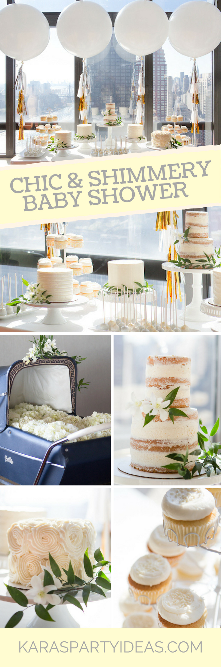 Chic and Shimmery Baby Shower - Karas Party Ideas via KarasPartyIdeas.com