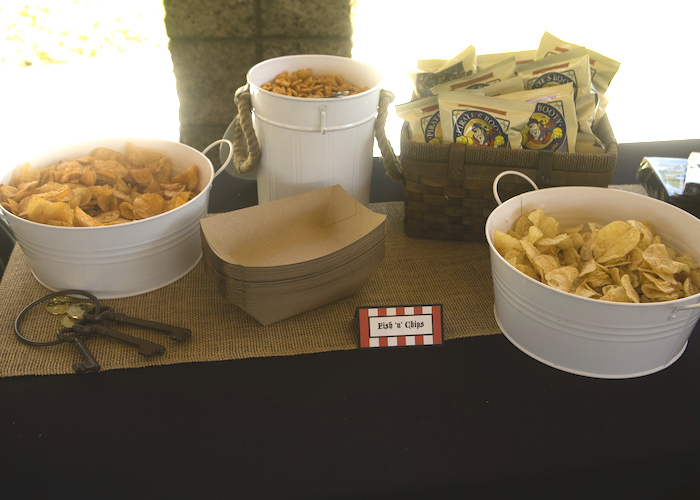 Fish N chips from a Misty Cove Pirate Birthday Party via Kara's Party Ideas | KarasPartyIdeas.com