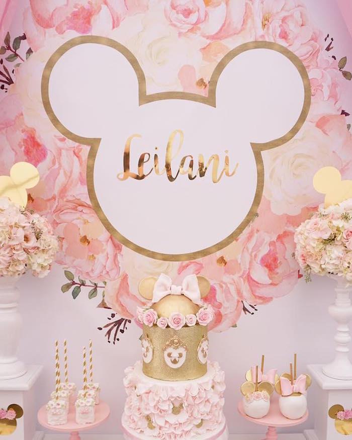 Floral Minnie Mouse Birthday Party on Kara's Party Ideas | KarasPartyIdeas.com (8)