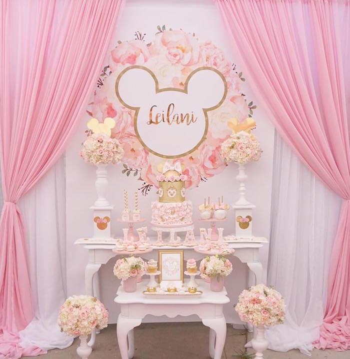 Floral Minnie Mouse Birthday Party on Kara's Party Ideas | KarasPartyIdeas.com (14)