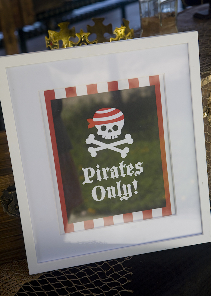 Frame from a Misty Cove Pirate Birthday Party via Kara's Party Ideas | KarasPartyIdeas.com