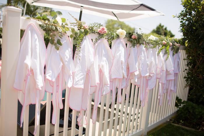 "Spa robe favors from a Garden Spa ""Treat Yourself"" Birthday Party on Kara's Party Ideas   KarasPartyIdeas.com (23)"