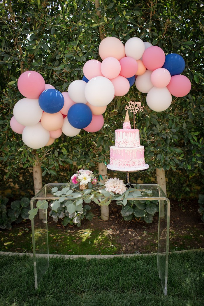 "Cake stand from a Garden Spa ""Treat Yourself"" Birthday Party on Kara's Party Ideas 
