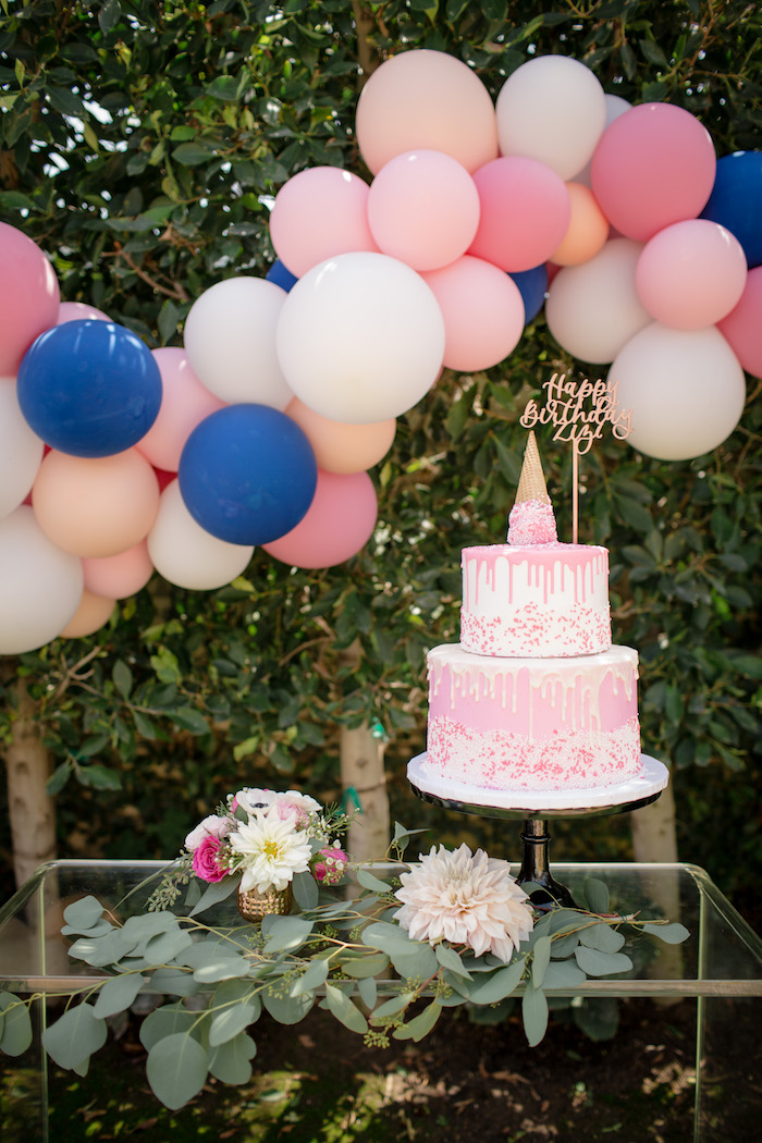 """Cake stand from a Garden Spa """"Treat Yourself"""" Birthday Party on Kara's Party Ideas   KarasPartyIdeas.com (17)"""