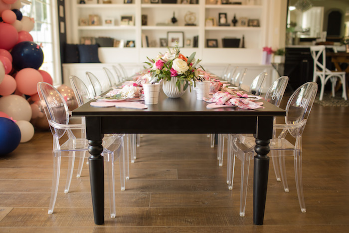 "Guest table from a Garden Spa ""Treat Yourself"" Birthday Party on Kara's Party Ideas   KarasPartyIdeas.com (34)"