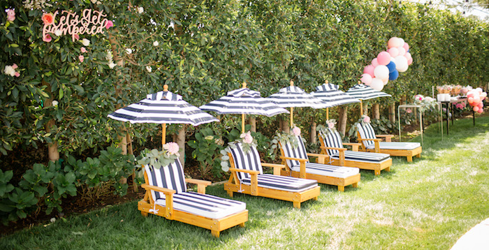 "Spa Lounge from a Garden Spa ""Treat Yourself"" Birthday Party on Kara's Party Ideas 