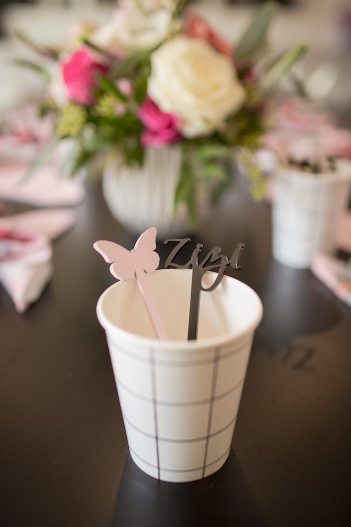 "Cups from a Garden Spa ""Treat Yourself"" Birthday Party on Kara's Party Ideas   KarasPartyIdeas.com (30)"