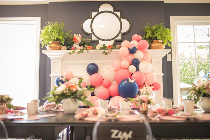 """Guest tablescape from a Garden Spa """"Treat Yourself"""" Birthday Party on Kara's Party Ideas   KarasPartyIdeas.com (27)"""