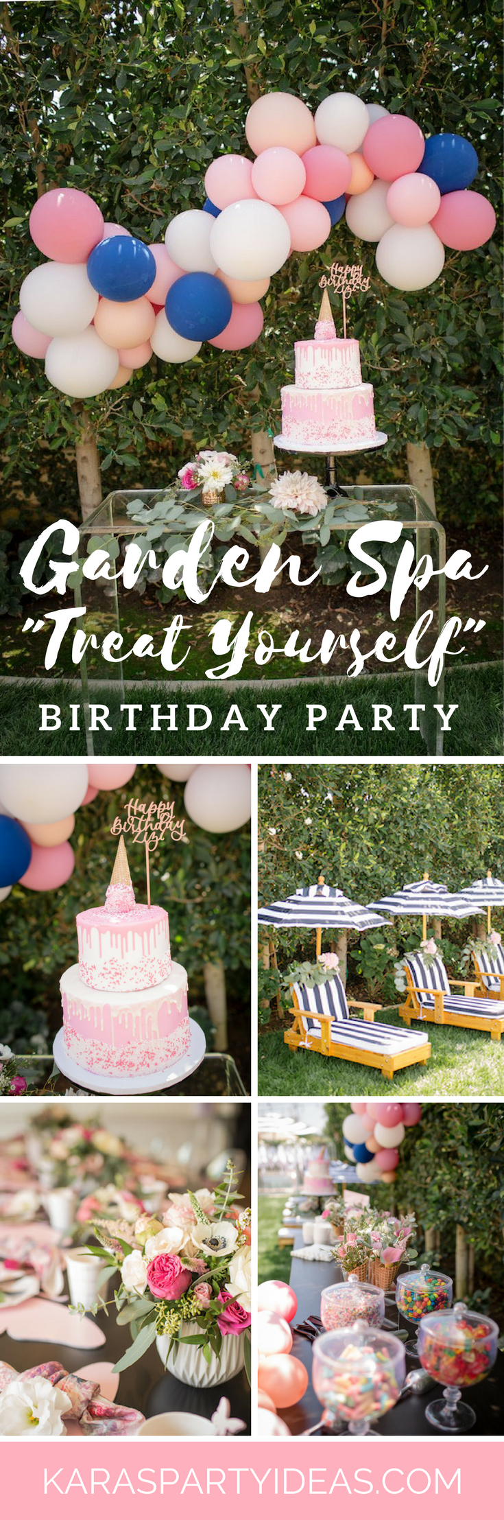 Garden Spa Treat Yourself Birthday Party via Kara's Party Ideas - KarasPartyIdeas.com