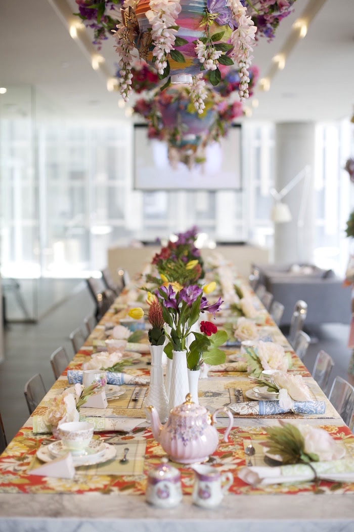 Guest Tablescape From A Garden Tea Party Bridal Shower On Karas Ideas