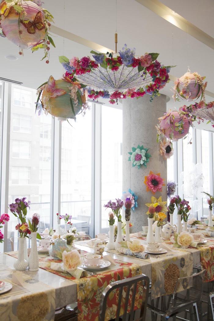 Guest tablescape from a Garden Tea Party Bridal Shower on Kara's Party Ideas | KarasPartyIdeas.com (17)