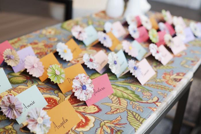 Name cards from a Garden Tea Party Bridal Shower on Kara's Party Ideas | KarasPartyIdeas.com (12)