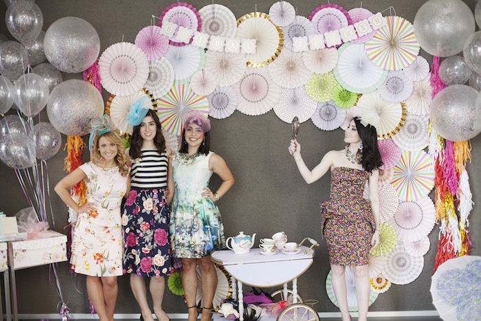 Photo booth from a Garden Tea Party Bridal Shower on Kara's Party Ideas | KarasPartyIdeas.com (11)