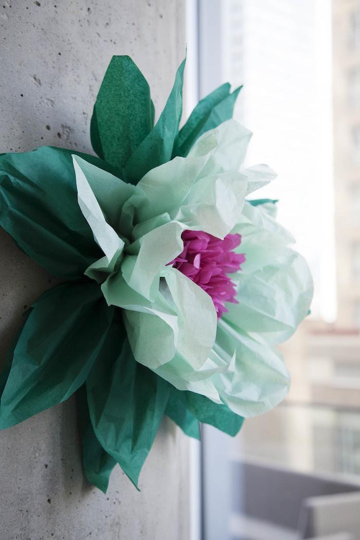Paper flower from a Garden Tea Party Bridal Shower on Kara's Party Ideas | KarasPartyIdeas.com (10)