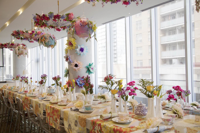 Guest table from a Garden Tea Party Bridal Shower on Kara's Party Ideas | KarasPartyIdeas.com (9)