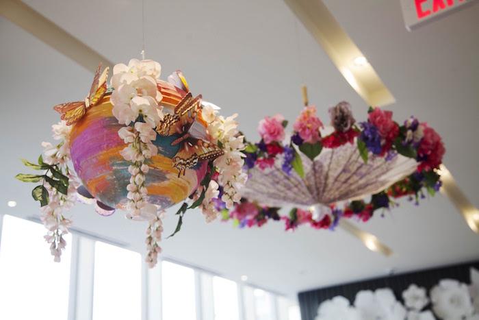 Suspended centerpieces from a Garden Tea Party Bridal Shower on Kara's Party Ideas | KarasPartyIdeas.com (7)