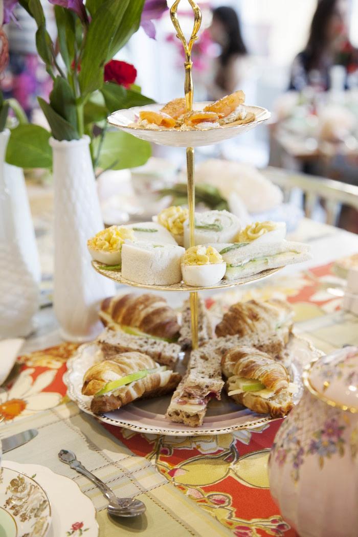 Food from a Garden Tea Party Bridal Shower on Kara's Party Ideas | KarasPartyIdeas.com (6)