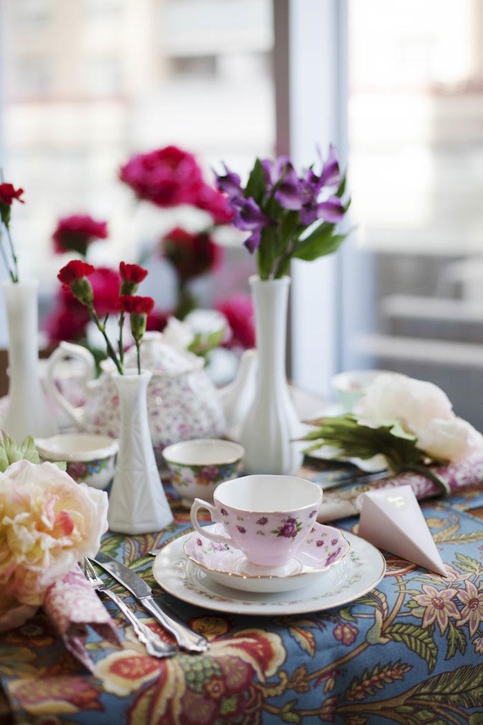 Garden Tea Party Bridal Shower on Kara's Party Ideas | KarasPartyIdeas.com (30)