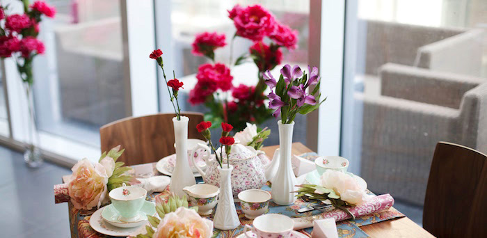 Garden Tea Party Bridal Shower on Kara's Party Ideas | KarasPartyIdeas.com (2)