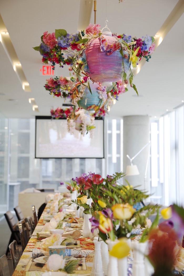 Guest tablescape from a Garden Tea Party Bridal Shower on Kara's Party Ideas | KarasPartyIdeas.com (27)