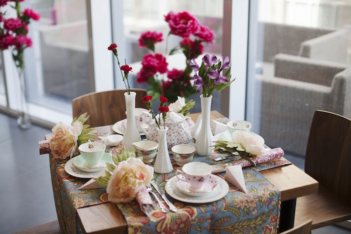 Garden guest table from a Garden Tea Party Bridal Shower on Kara's Party Ideas | KarasPartyIdeas.com (26)