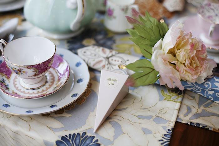 Favor cone from a Garden Tea Party Bridal Shower on Kara's Party Ideas | KarasPartyIdeas.com (24)