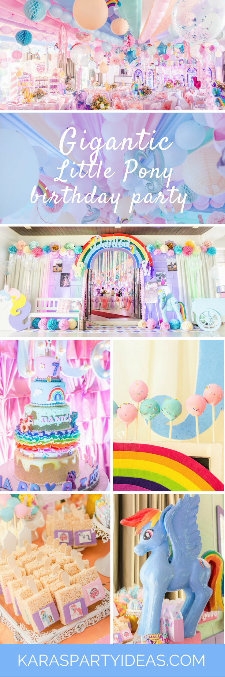 Gigantic Little Pony Birthday Party - Karas Party Ideas via KarasPartyIdeas.com