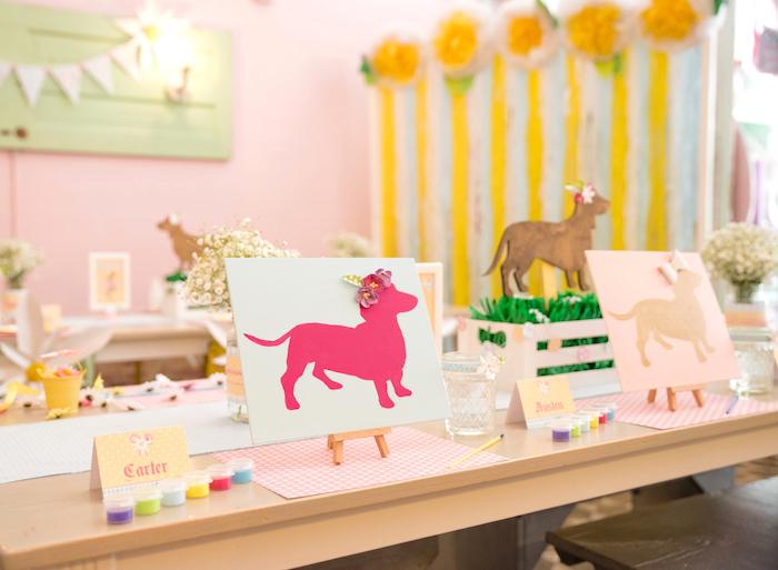 Activity table from a Girly Oktoberfest Party on Kara's Party Ideas | KarasPartyIdeas.com (17)