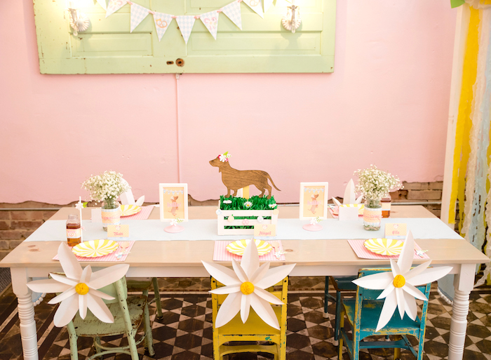 Guest table from a Girly Oktoberfest Party on Kara's Party Ideas | KarasPartyIdeas.com (16)