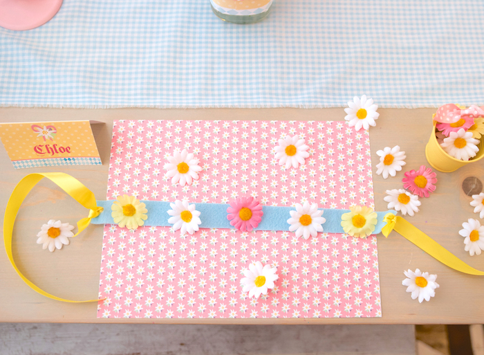 Edelweiss flower crowns + bunting from a Girly Oktoberfest Party on Kara's Party Ideas | KarasPartyIdeas.com (15)