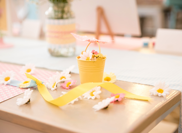 Edelweiss flower crowns + bunting from a Girly Oktoberfest Party on Kara's Party Ideas | KarasPartyIdeas.com (14)
