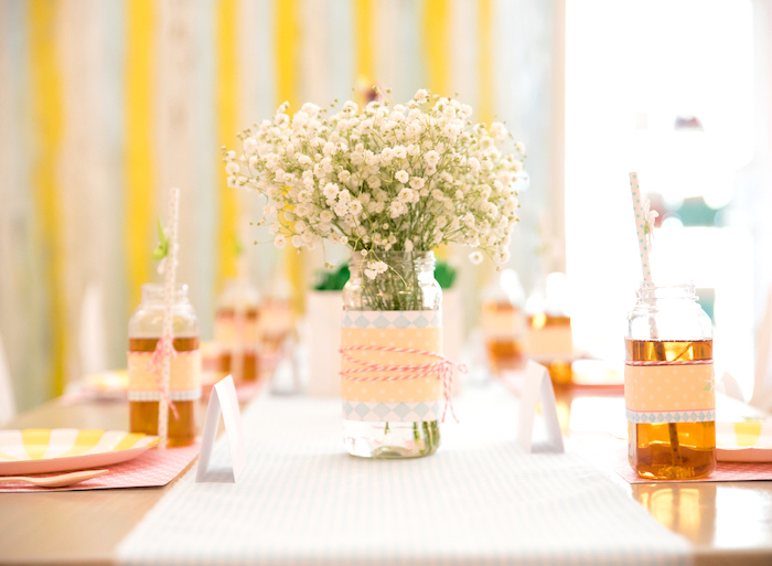 Guest table from a Girly Oktoberfest Party on Kara's Party Ideas | KarasPartyIdeas.com (12)