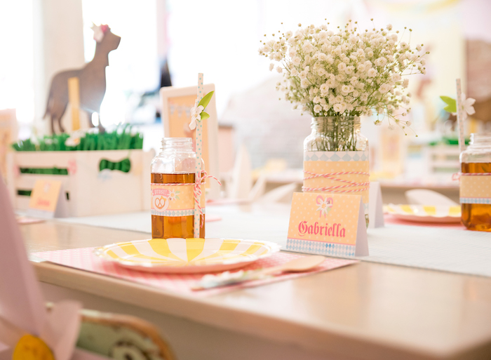 Place setting + guest tablescape from a Girly Oktoberfest Party on Kara's Party Ideas | KarasPartyIdeas.com (10)