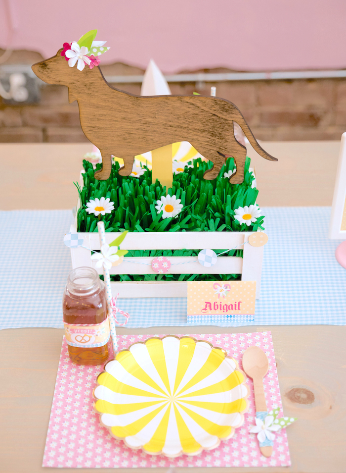 Place setting from a Girly Oktoberfest Party on Kara's Party Ideas | KarasPartyIdeas.com (8)