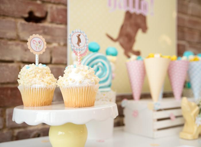 Cupcakes from a Girly Oktoberfest Party on Kara's Party Ideas | KarasPartyIdeas.com (24)