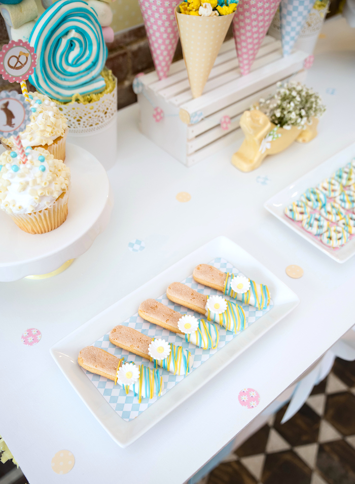 Chocolate-dipped lady finger cookies from a Girly Oktoberfest Party on Kara's Party Ideas | KarasPartyIdeas.com (23)